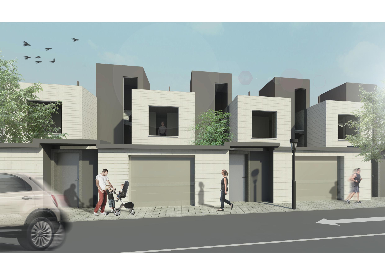 11 viviendas unifamiliares adosadas gti arquitectos - Proyectos casas unifamiliares ...