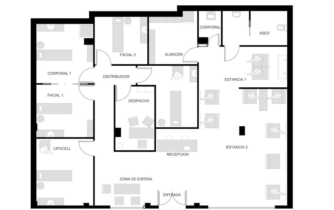 Reforma centro de est tica gti arquitectos for Centros de estetica en fuenlabrada
