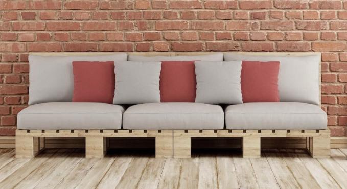 Muebles de jardn creados con pales palets madera muebles for Muebles hechos con paletas de madera