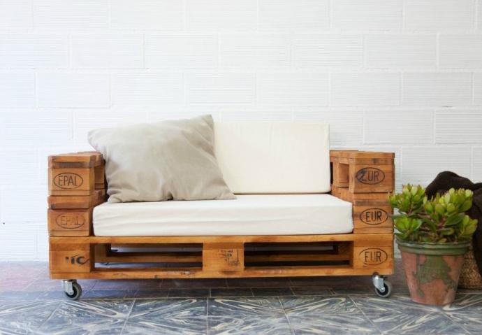 Muebles con palets de madera muebles hechos con palets en - Muebles de palets facilisimo ...