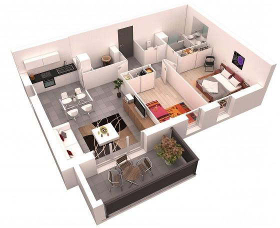 Plano Casa Pequea Plano De Casa De Un Dormitorio Para Terreno - Planos-de-casas-pequeas