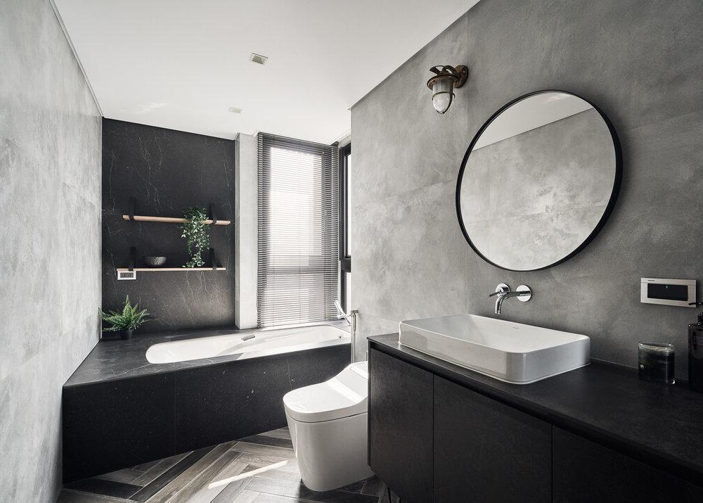 baño moderno grande